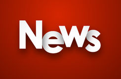 Paper news sign. Stock Photography