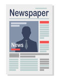 Paper Newspaper Isolated Illustration on White Royalty Free Stock Photo