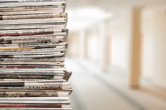 Pile of newspapers on background. Paper newspaper news pile pile of newspapers print media paper stack Stock Photography
