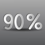 Paper ninety percent Royalty Free Stock Photo