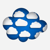 Paper notched out clouds Royalty Free Stock Images