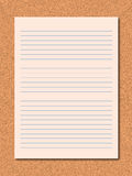 Paper note Stock Images