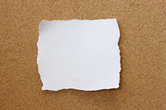 Paper note. On wood texture royalty free stock photography