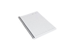 Paper note book. Isolated on white Royalty Free Stock Photo