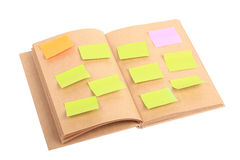 Paper note on book isolated Stock Photography