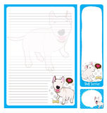 Paper note_bull terrier Stock Photo