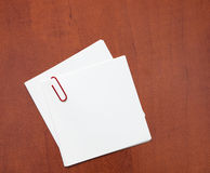 Paper note with a clip Stock Photos