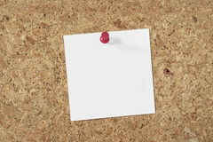Paper note on cork background Royalty Free Stock Images