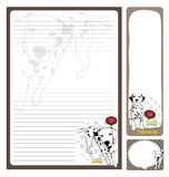 Paper note dalmatian Royalty Free Stock Photo