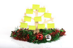 Paper note decorated on christmas day Stock Photos