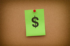 Paper note with Dollar sign Royalty Free Stock Images