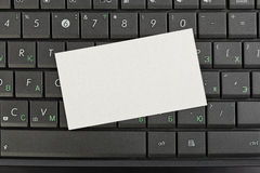 Paper note on keyboard Stock Image