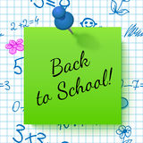 Paper Note with Lettering Back to School Royalty Free Stock Image
