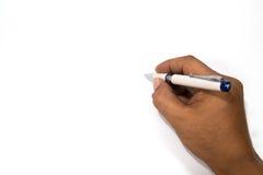Paper note. Men are written on plain white paper Stock Photos