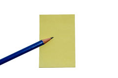 Paper note pencil Stock Images