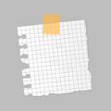 Paper note sheet for message vector illustration. Stock Image