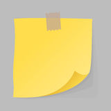 Paper note sheet for message vector illustration. Royalty Free Stock Photo