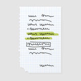 Paper note sheet for message vector illustration. Royalty Free Stock Image
