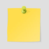 Paper note sheet for message vector illustration. Stock Photos