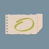 Paper note sheet for message vector illustration. Stock Photo