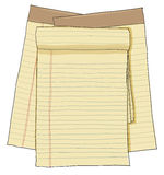Paper note vintage , paper sheets, lined paper Royalty Free Stock Photos