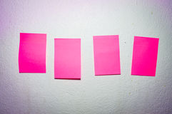 Paper note on the wall Royalty Free Stock Photo