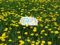 Paper note with word: summer royalty free stock image