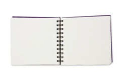 Paper notebook. Paper spiral notebook on white background Stock Photo