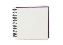 Paper notebook. Paper spiral notebook on white background Royalty Free Stock Photos