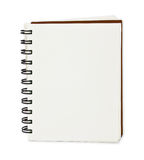 Paper notebook. Isolated on white stock photos