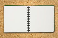 Paper notebook. On board background Royalty Free Stock Photos