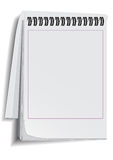 Paper notebook. The paper notebook is opened on a white background Royalty Free Stock Photo