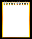 Paper notebook on black background Royalty Free Stock Images