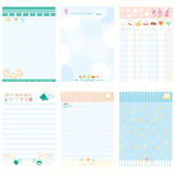 Paper Notebook Color Blue style. Vector Stock Photo