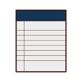 Paper notebook isolated icon Royalty Free Stock Photography