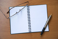 Paper notebook Stock Image