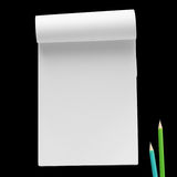 Paper notebook with pencil Royalty Free Stock Images