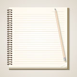 Paper Notebook and pencil Royalty Free Stock Image