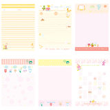 Paper Notebook pink and yellow style. Vector illustrator Royalty Free Stock Photos