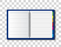Paper notebook vector illustration Stock Image