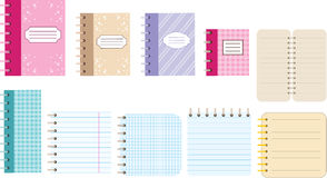 Paper notebooks. Diaries. The image of diaries and notebooks for records royalty free illustration
