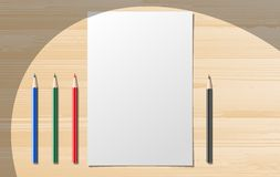 Paper notebooks with stationery Stock Images