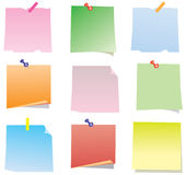 Paper notes Royalty Free Stock Photography