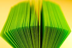 Paper for notes. Green paper for notes close-up Royalty Free Stock Images