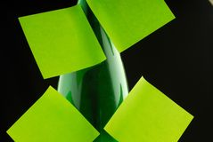 Paper for notes. Dreen paper for notes, close-up Royalty Free Stock Photo
