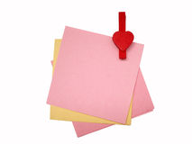 Paper notes. Colorful paper notes pined together Royalty Free Stock Image