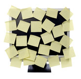 Paper notes on computer monitor Royalty Free Stock Image