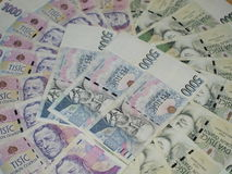 Paper notes. Currency Czech Republic Royalty Free Stock Photo
