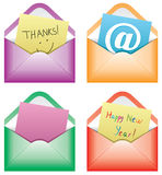 Paper notes in envelopes Royalty Free Stock Image