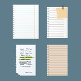 Paper notes sheet for message vector illustration. Stock Photo